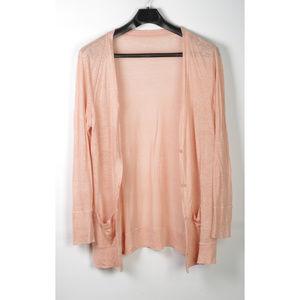 J Crew Linen Sweater/Cardigan Size XL